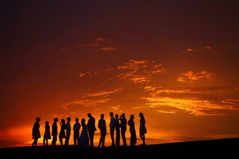 kiawah wedding photographers sunset