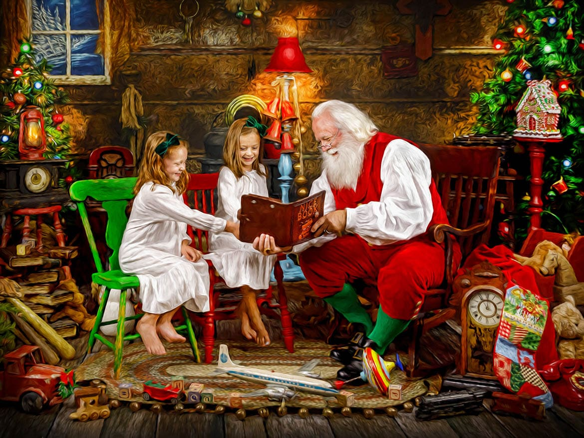 Christmas in July Wonder of Santa Sessions
